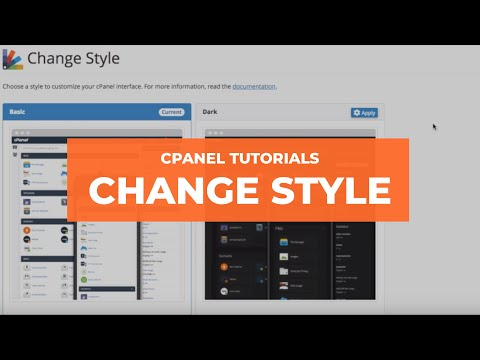 cPanel Video Tutorials - Change Style
