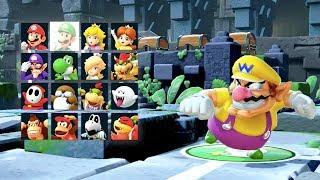 Super Mario Party - Whomp's Domino Ruins (Wario, Goomba, Hammer Bro & Koopa Troopa) | MarioGamers