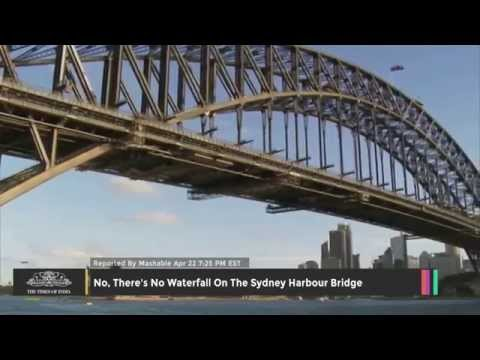 No, There's No Waterfall On The Sydney Harbour Bridge