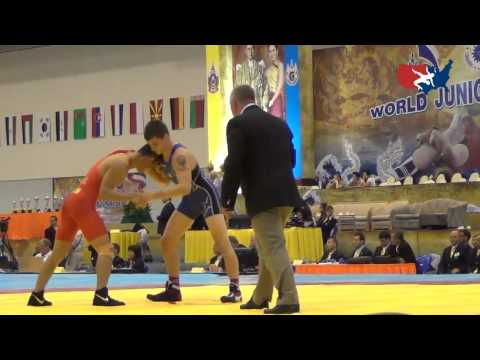 2012 Junior Worlds - GR 60kg - Jesse Thielke (USA) vs. Lixin Tai