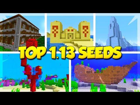TOP 5 SEEDS for MINECRAFT 1.13! (Minecraft Update Aquatic Seeds)
