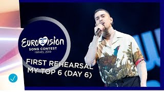 Eurovision 2019: first rehearsal - my top 6 (10/05/2019 - big 5 + Israel)