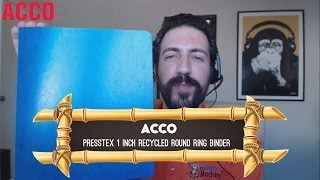 ACCO Presstex 1 inch Recycled Round Ring Binder