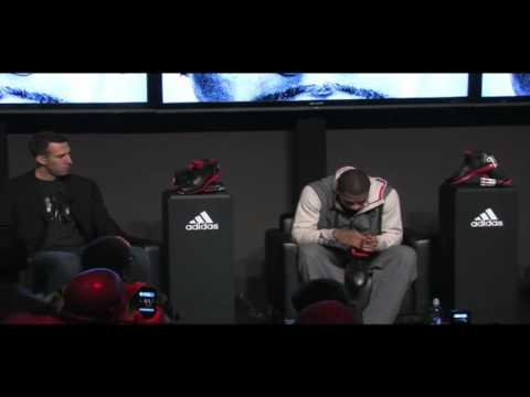Derrick Rose breaks into tears at the adidas D Rose 3 launch