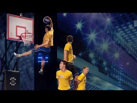 Face Team basketball acrobatics - Britain's Got Talent 2012 audition - UK version