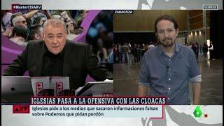 El enfrentamiento entre Ferreras y Pablo Iglesias por la trama de las cloacas del Estado