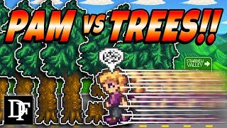 NPC's vs Trees! RIP Shane - Stardew Valley