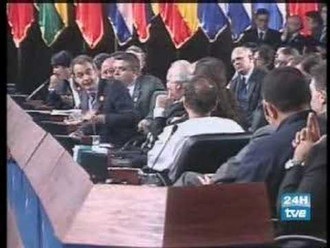 Juan Carlos I a Hugo Chávez: ¿Por qué no te callas?