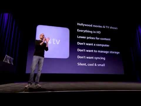 Introduction Apple TV by Steve Job