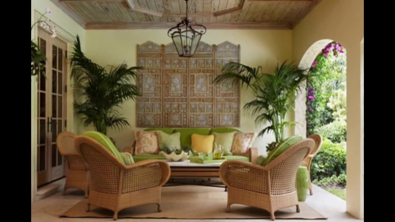 Tropical Living Room design  Houzz