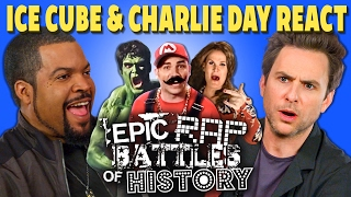 ICE CUBE & CHARLIE DAY REACT TO EPIC RAP BATTLES OF HISTORY