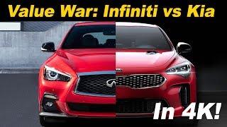 2018 Kia Stinger GT vs 2018 Infiniti Q50 3.0t Sport | Head to Head comparison