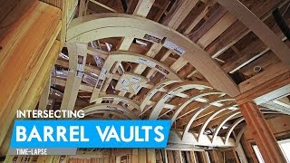 Intersecting Barrel Vaults = A Groin Vault | Time-Lapse