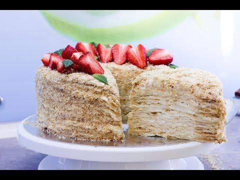 Торт Наполеон. Лучший рецепт из мною проверенных.  Собираем и украшаем торт