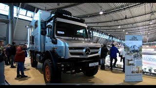 Mercedes Benz Unimog U4023 4x4 Expedition Camper Ziegler Adventure walkaround and interior K13