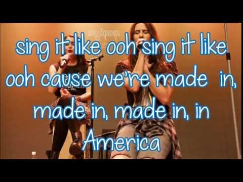 Lisa and Lauren Cimorelli - Made in america (lyrics)