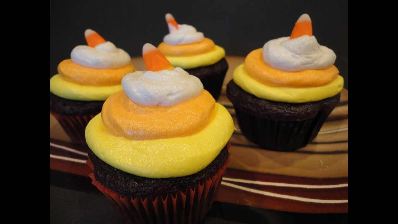 Halloween Cupcake Decorations With Candy Corn Candy Corn Cupcakes Halloween