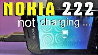 Nokia 222 (RM-1136 )Not charging - solution / Не заряжается - решение /