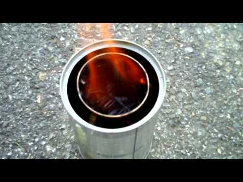Prototype Woodgas Gasification Camp Stove