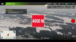 DJI MAVIC AIR #9 4600 METERS - 2.85 MILES WORLD RECORD TOTALLY 9215 METERS - 5.73 MILES IN FCC MOD