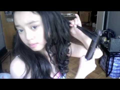 How to Make Curls With a Flat Iron Flat Iron Curls With Braids