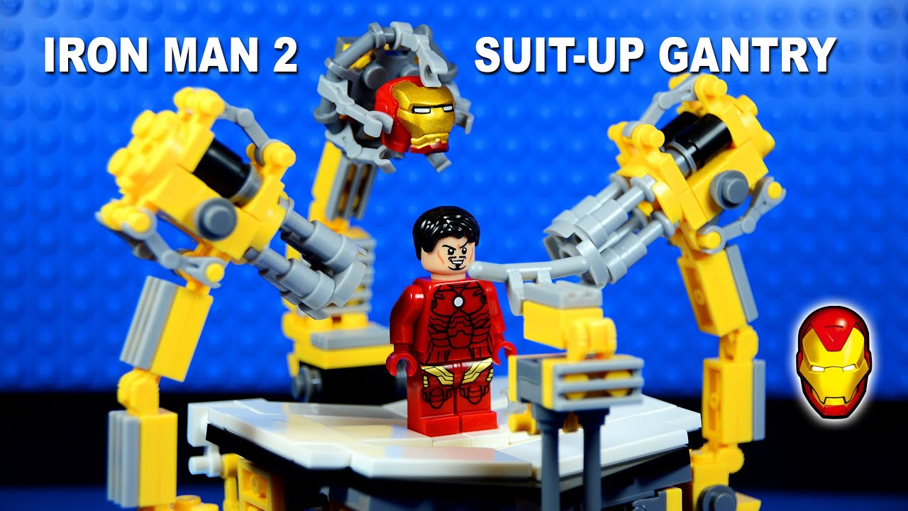 Iron Man Suit Collection Lego Iron Man Suit-up Gantry