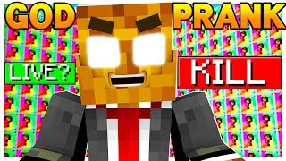 LITERALLY THE FUNNIEST MINECRAFT GOD PRANK EVER! - TROLLING ON MINECRAFT LUCKY BLOCK WALLS