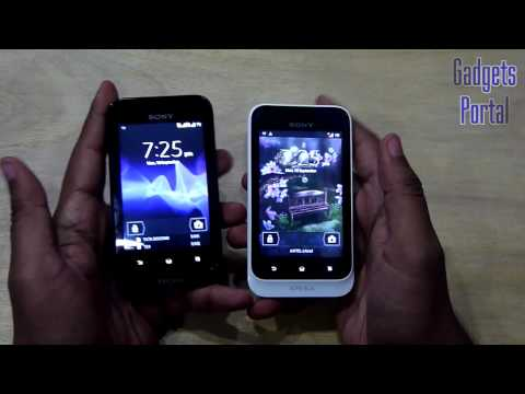 Sony XPERIA TIPO Dual VS Single: SIM TOGGLE KEY DEMO /ST21i2  vs ST21i Review by Gadgets Portal