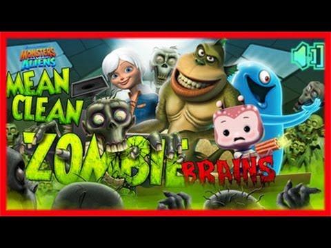 Monsters Vs Aliens: Mean, Clean, ZombieBrains Monsters Vs Aliens Games