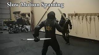 Slow Motion Longsword & Messer Sparring