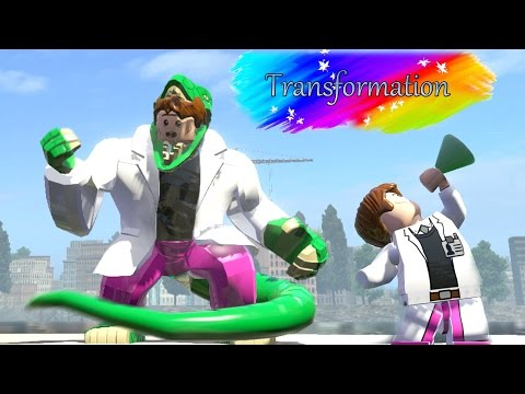 CURT CONNORS TRANSFORMATION INTO LIZARD -(Amazing Battle Fight) Lego Marvel Super Heroes Game