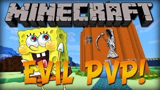 MINECRAFT PVP (SPOOKY SPONGEBOB PVP) w/Kenny and Friends!