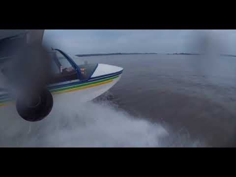 Almost a Night Water Landing (water landing almost at night)