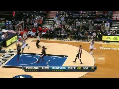 Block of the Night - Greg Stiemsma | Timberwolves vs Blazers  | Feb 4th, 2013