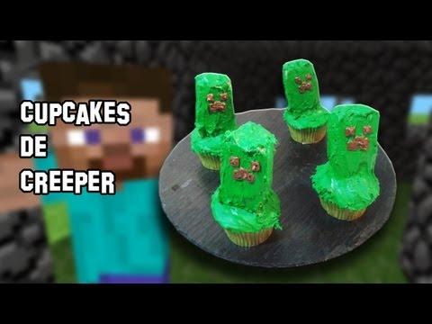 Recetas de Cocina | Como Hacer Creeper Cupcake Magdalenas de Minecraft