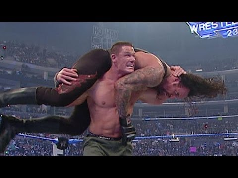 Wwe No Way Out 2007 John Cena & Hbk Vs Undertaker & Batista Highlights Hd video