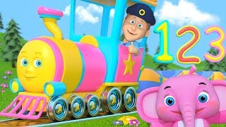 Number Train | Song For Kids | Kindergarten Nursery Rhymes For Toddlers by Little Treehouse