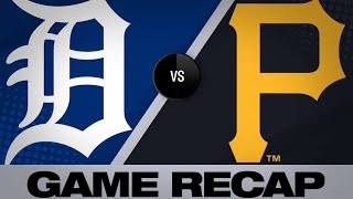 Reynolds' 3-run homer lifts Pirates to win | Tigers-Pirates Game Highlights 6/19/19