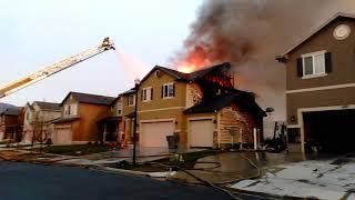 Double House Fire in North Salt Lake, Utah