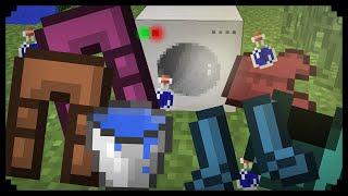 ✔ Minecraft: How to make a Washing Machine / Tumble Dryer