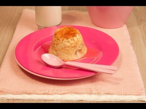 Flan de pan o roscón en el microondas (muy rápido)