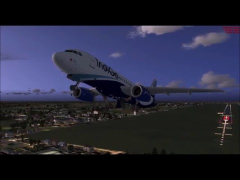 FSX: IndiGo Airlines 6E 395 (BOM to CCU) ****HD MOVIE****