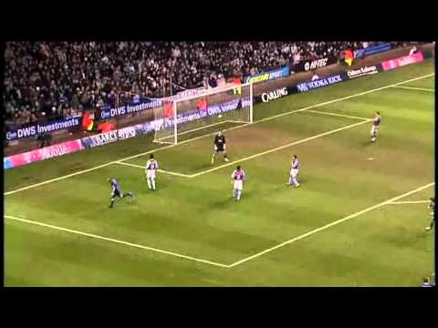 Ashley Cole goal - Aston Villa v Arsenal 04/02/2005