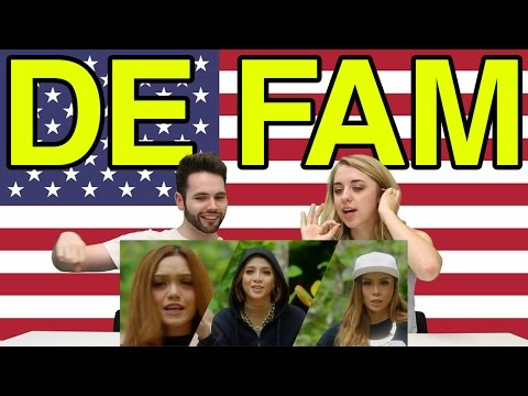 """Americans React To De Fam """"With You"""""""