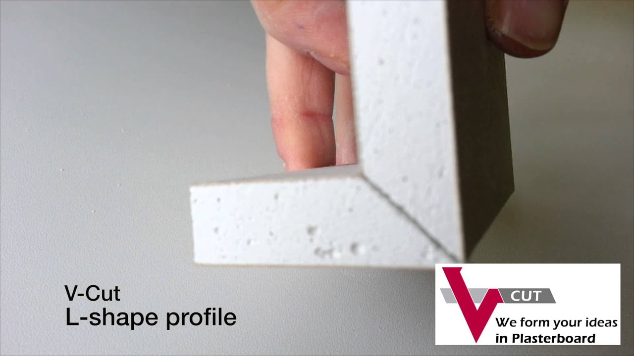 V Cut L Shape Plasterboard Drywall For Perfect Sharp