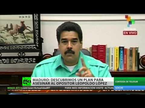 Maduro denuncia un complot para asesinar a Leopoldo López