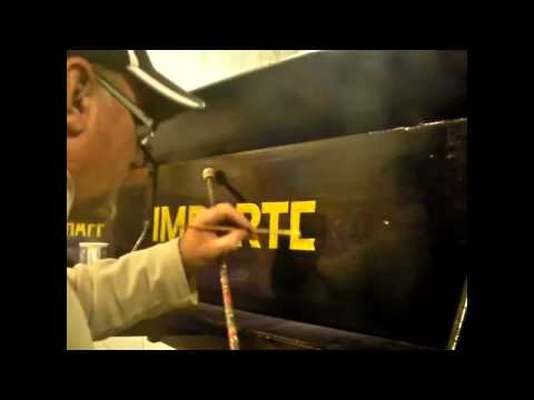 Signwriting MODEL T FORD (part 2 of 3)
