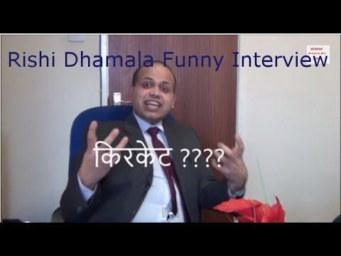 Paras Khadka Interview with Rishi Dhamala, nepali funny comedy video - Sisi Gamala Show #1