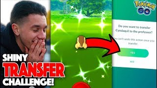 I LOST A BET IN POKÉMON GO… The Shiny Transfer Challenge!