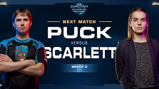 Scarlett vs puCK ZvP - Group D Winners - WCS Challenger NA Season 2